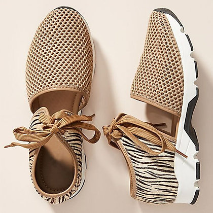 Leather Plus Size Lace Up Breathable Mesh Sandal sneaker