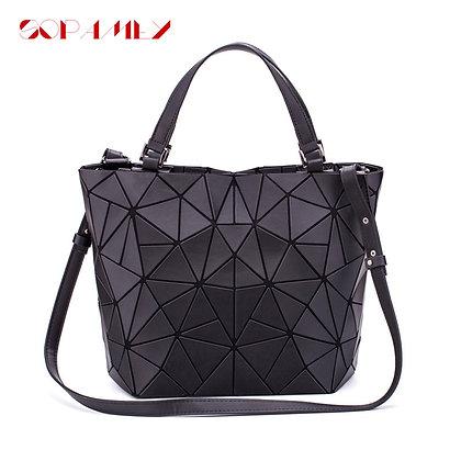 Luminous Plain Folding Geometric Handbag
