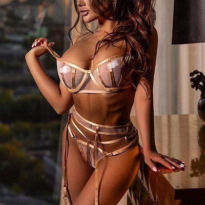 Sexy Beige Erotic Lingerie