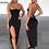 Thumbnail: Spaghetti Strap Bandage Slit Dress Party Dress  Bodycon Dress