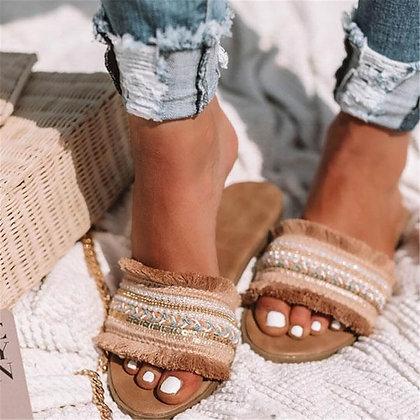 New Rome Retro Flat Sandals