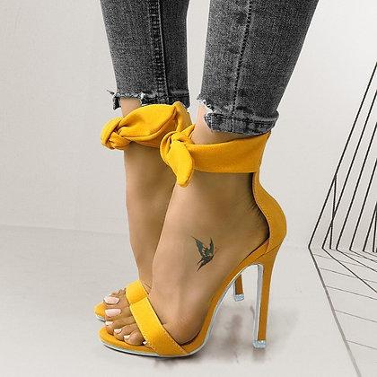 Sexy Open Toe Bowknot High Heel