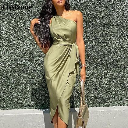 Olive Green Evening Dresse