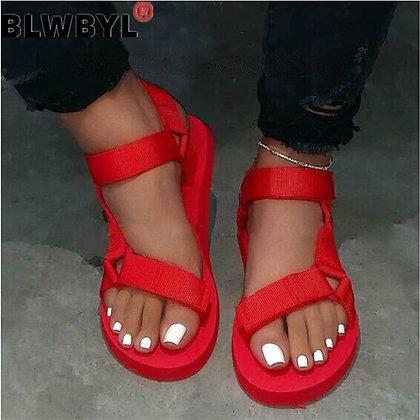 Buckle Strap Foam Sandals