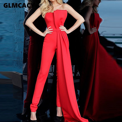 GLMCACY Classy Backless Formal Jumpsuit