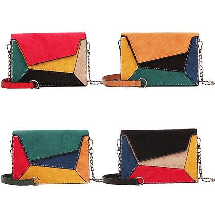 Retro Matte Patchwork Crossbody Bag