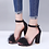 Thumbnail: Ankle Strap Faux Fluffy High Heels