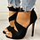 Thumbnail: Thin High Zipper Peep Toe High Heels Pumps
