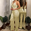 Thumbnail: Gold Glitter V-Neck Sequin Strappy Jumpsuit