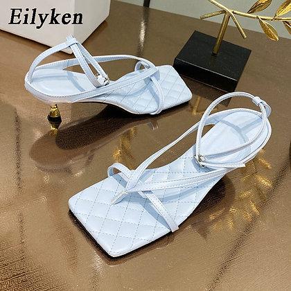 Gladiator square Sandal High Heels