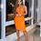 Thumbnail: Elegant Orange One Shoulder Bodycon Rayon Bandage Dress