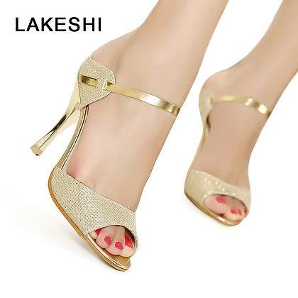 LAKESHI Peep Toe High Heel