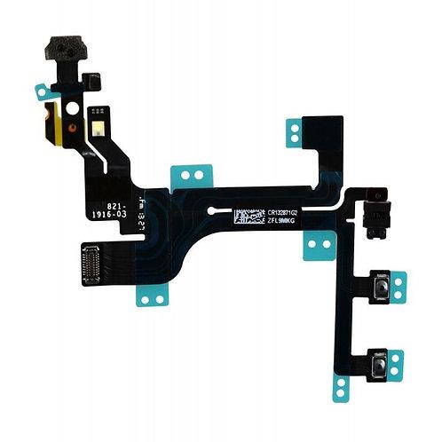 Шлейф кнопка включения+громкости+бесшумный режим+вспышка+микрафон iPhone 5c