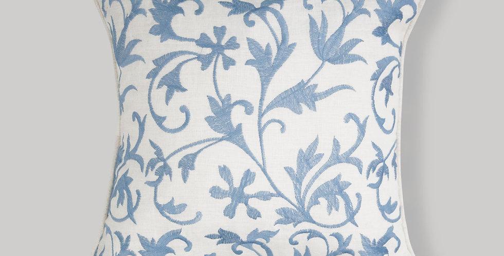 Linen All over blue Cushion Cover 40cmx40cm