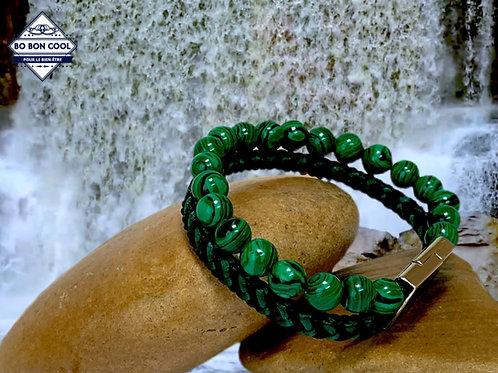 BBC-P 015-3 Bracelet en Malachite