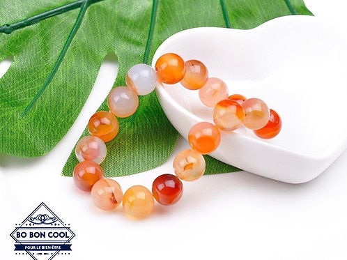 BBC-P 005 Bracelet en Agate Orange