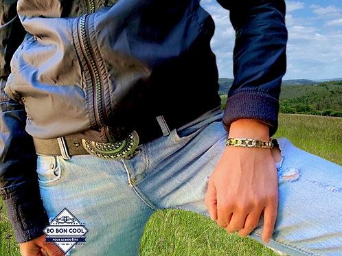 BBC029 Bracelet Magnétique avec Cristal
