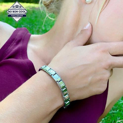 BBC075 Bracelet Bio Energie avec Croix Christique