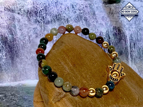 BBC-P 013-11 Beau bracelet avec la paume en Agate