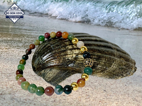 BBC-P 013-5 Wunderschönes Armband mit Achatkugel