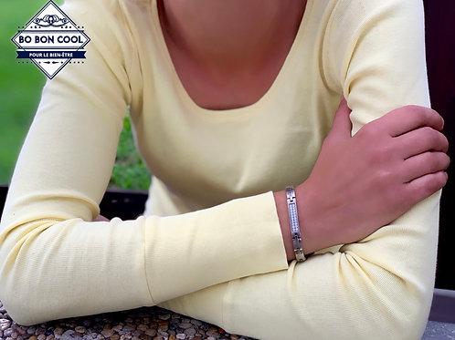 BBC054 Bracelet Energétique Argent Charme avec Cristal