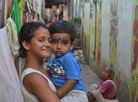 Cute kids living in Kalighat