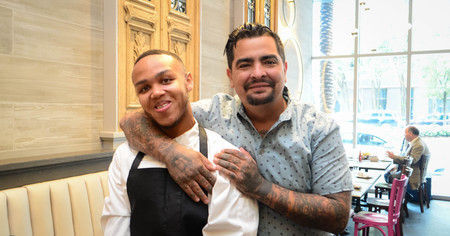 Jeremiah with Chef Aaron Sanchez