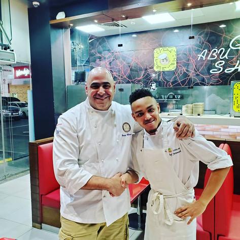 Jeremiah with Chef George of Doha,Qatar