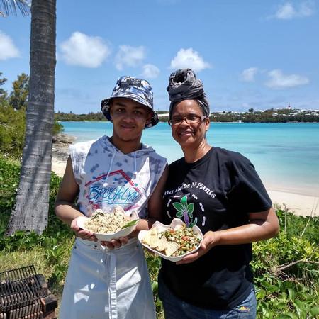 Jeremiah with Chef Dorren in Bermuda