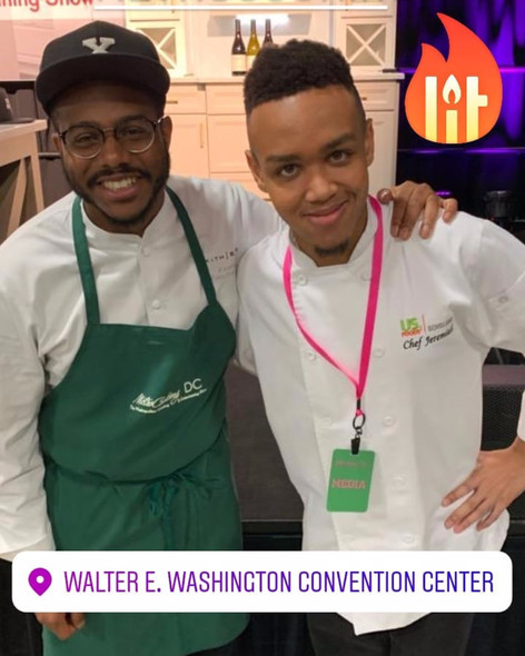 Jeremiah with Mentor Chef Kwame