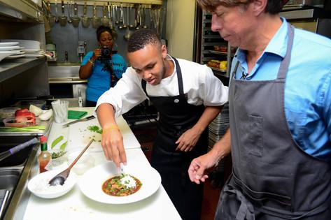 Jeremiah with Chef John Besh
