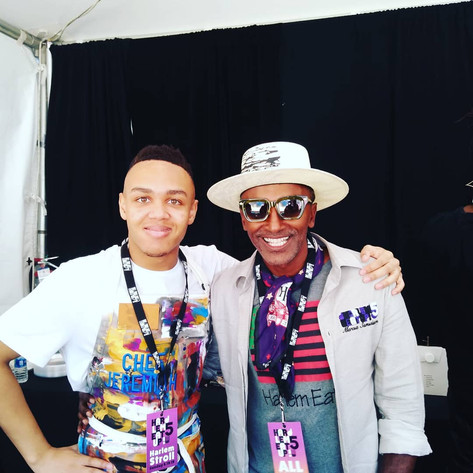 Jeremiah with Chef Marcus Samuelsson