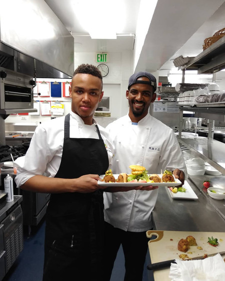 Jeremiah with Chef Michiko Campbell