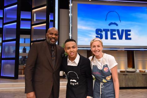 Chef Jeremiah with Celebrity Chef Christina Tosi & Steve Harvey