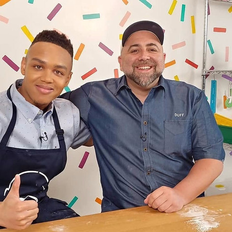 Jeremiah with Chef Duff