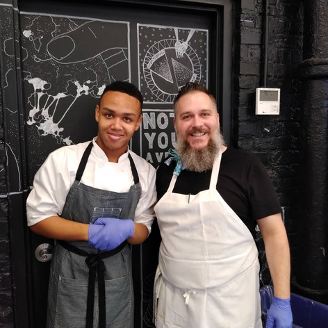 Chef Jeremiah with Instructor David of the Milk Bar Flagship Store in Washington, DC