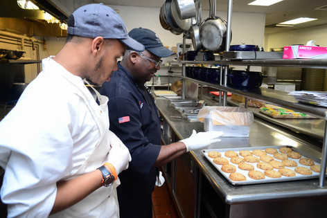 Jeremiah with Chef Stanley, DoubleTree by Hilton, New Orleans