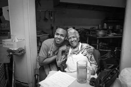 Jeremiah with the Legendary Leah Chase