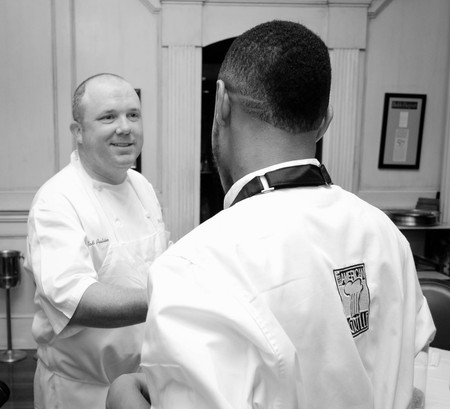 Jeremiah with Chef Todd Pulinelli - August Restaurant, New Orleans