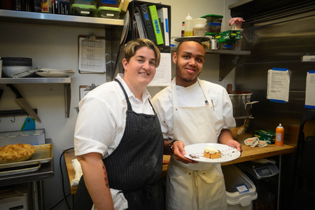 Chef Kelly Fields with Chef Willa Jean, New Orleans
