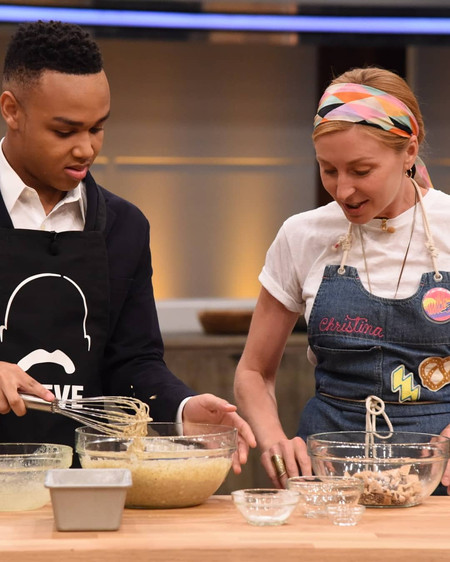 Chef Jeremiah with Celebrity Chef Christina Tosi