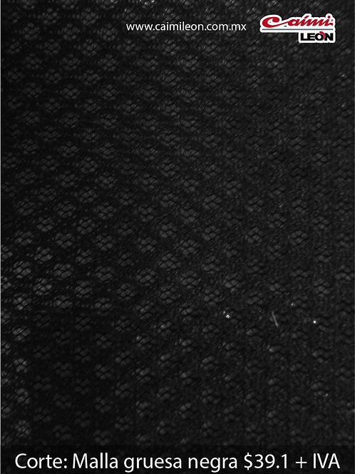 Malla gruesa negra