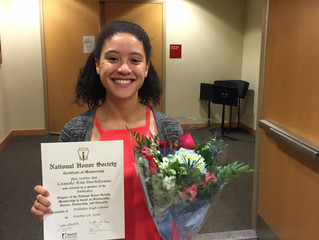 ABC Scholar Inducted into National Honor Society
