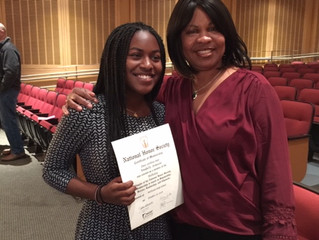 ABC Scholar Inducted into National Honors Society