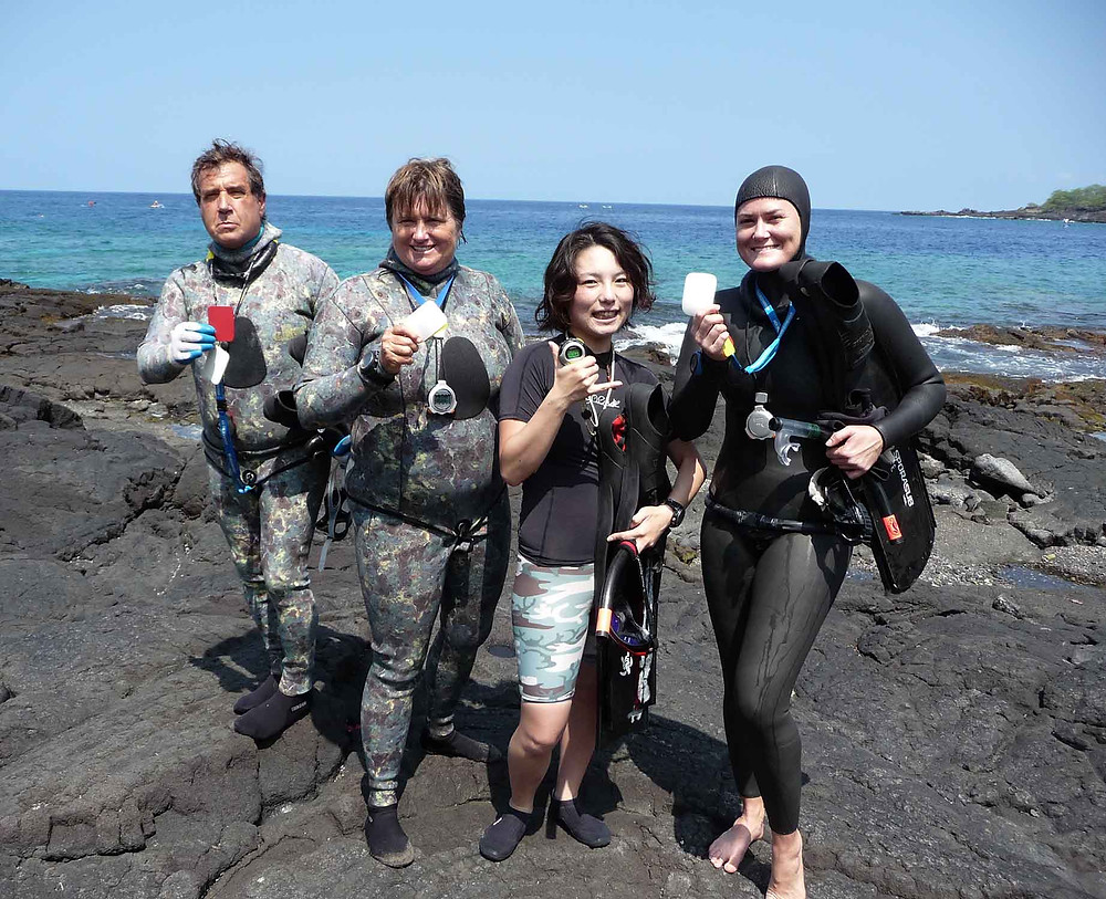 learn to freedive hawaii Kona Freedivers