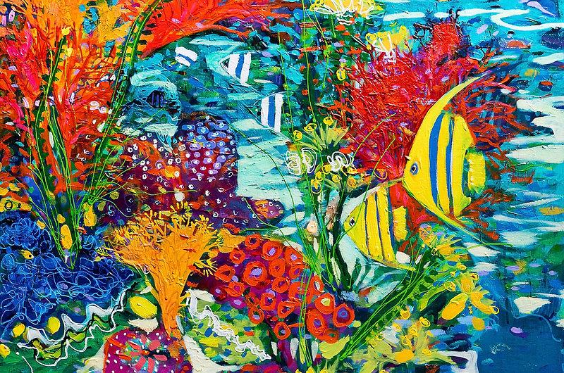 Coral garden painting Karen Windle