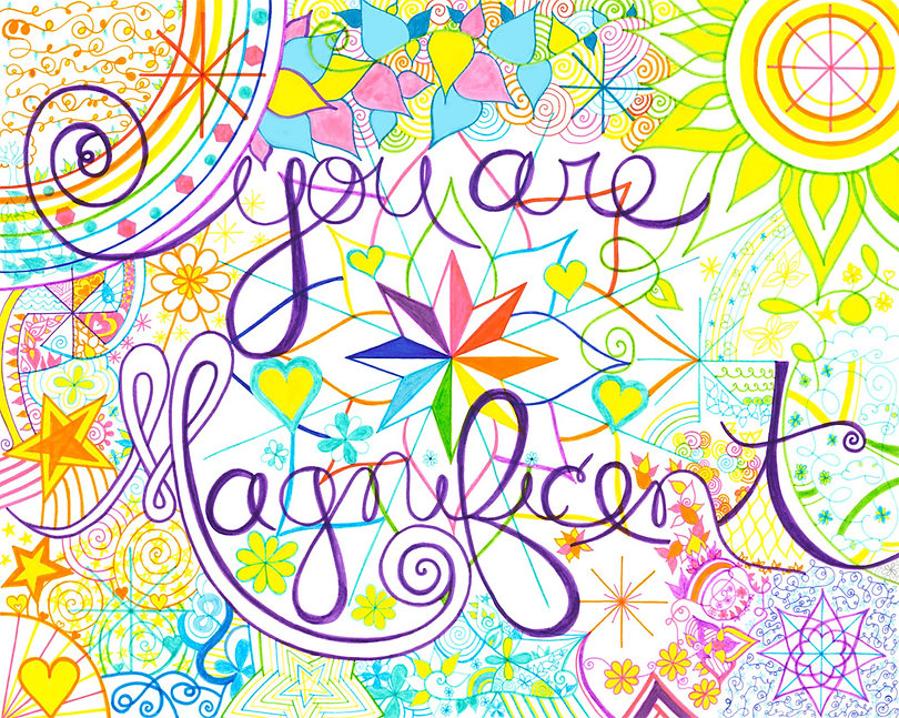 You are Magnificent - SoulSpark - intuitive art