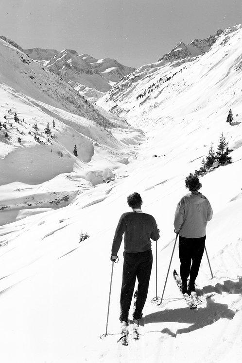 Bild vintage Arlberg