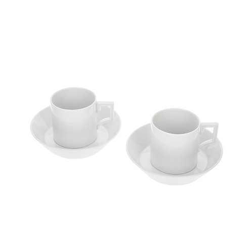 Meissen Espresso Set plain