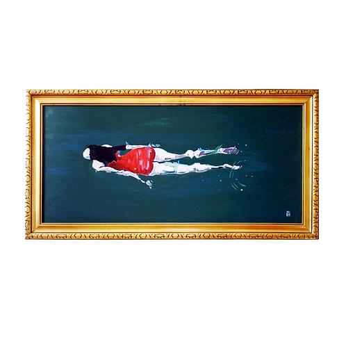 Schwimmerin in Rot I